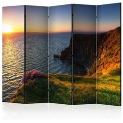 Parawan 5-częściowy - Zachód słońca: Moherowe Klify, Irlandia II [Room Dividers]