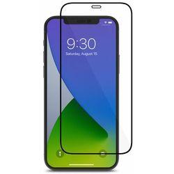 Moshi AirFoil Pro – Elastyczne szkło hybrydowe na iPhone 12 / iPhone 12 Pro (czarna ramka)