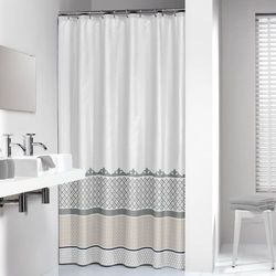 Sealskin Marrakech Silver zasłona prysznicowa tekstylna 180x200cm 235281318 Darmowa wysyłka i zwroty