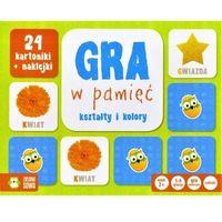 Gry dla dzieci, Rosnę i Poznaję Gra w pamięć Kształty i Kolory - Zielona Sowa