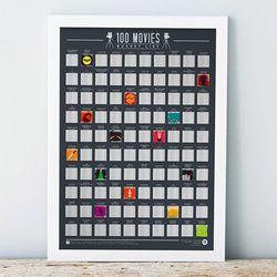 Plakat Zdrapka 100 Filmów jakie trzeba zobaczyć w życiu