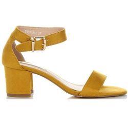 Uniwersalne Sandały Damskie na szerokim obcasie marki Bellucci Żółte (kolory)