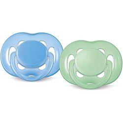 AVENT smoczek uspokajający sensitive, silikonowy, 6-18 miesięcy. Zielony Niebieski