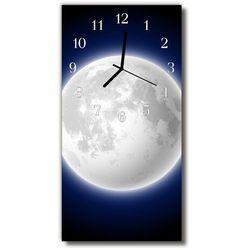 Zegar Szklany Pionowy Wszechświat Księżyc kosmos kolorowy