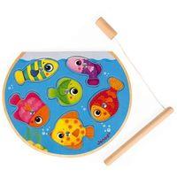 Puzzle, Puzzle z magnesami Janod - Szybkie rybki z wędką J07088