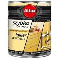 Lakiery, Lakier szybkoschnący Altax bezbarwny połysk 0,75 l
