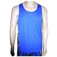 Pozostałe sporty walki, Koszulka bokserska MASTERS KBOX-1Q - niebieski