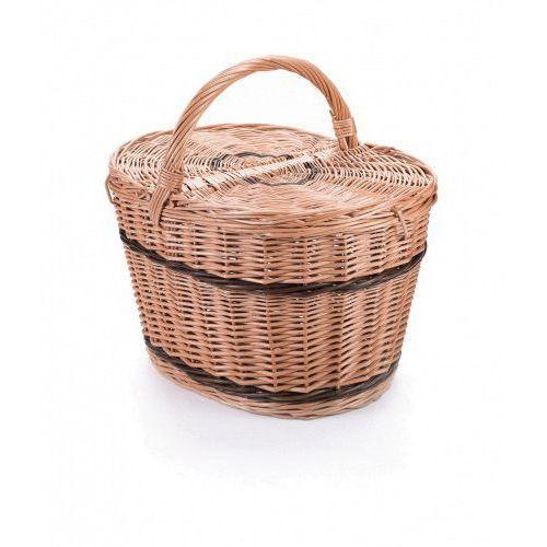 Koszyki, Wiklinowy kosz piknikowy owalny, na piknik