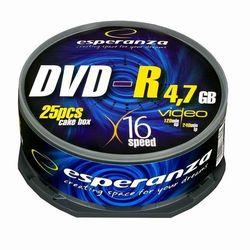 Esperanza DVD-R/25/Cake 4.7GB 16x Darmowy odbiór w 16 miastach!