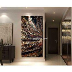 Miedziana odchłań - abstrakcyjne obrazy do modnego salonu rabat 10%