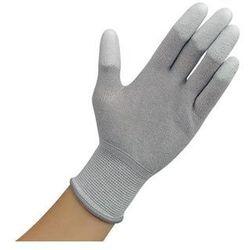 Rękawiczki ESD z warstwą antypoślizgową na palcach, szare, rozmiar XL