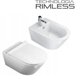 Muszla wc SONET 50cm RIMLESS +bidet +deska