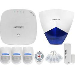 ZA12664 Bezprzewodowy system alarmowy GSM 4G 3 czujki ruchu HIKVISION z sygnalizatorem i pilotem