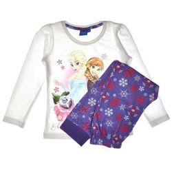 Piżama dziecięca komplet Frozen Kraina Lodu fiolet - Biały ||Fioletowy