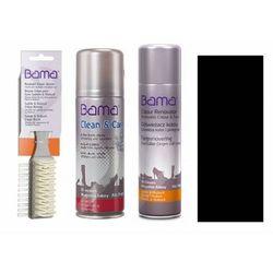 Zestaw do czyszczenia i pielęgnacji skóry zamsz nubuk bama 3w1 czarny
