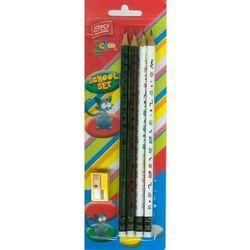 Zestaw szkolny Easy school 4 ołówki + temperówka