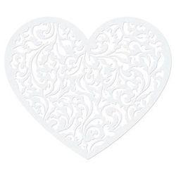 Dekoracja papierowa Serce - 13,5 x 11,5 cm - 10 szt.