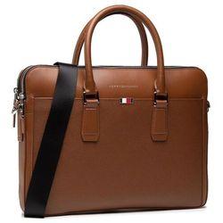 Torba na laptopa TOMMY HILFIGER - Business Leather Slim Comp AM0AM068420 BRW
