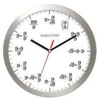 Zegary, Zegar aluminiowy matematyka #9
