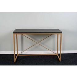 Funkcjonalna konsola biurko toaletka ELSA Złoty Wytrawny szary kamień