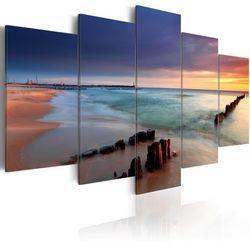 Obraz na płótnie Canvas HD - Wschód słońca nad brzegiem morza 100 szer. 50 wys.