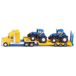 Ciężarówka z traktorami New Holland