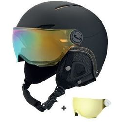 KASK BOLLE JULIET SOFT BLACK & GOLD WITH 1 GOLD VISOR + 1 LEMON VISOR