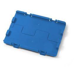 Składana pokrywa z zawiasami, opak. 4 szt., dł. x szer. 400x300 mm, niebieski. Ł
