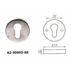 Szyld okrągły A2 na wkładkę ze stali nierdzewnej