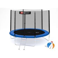 Trampoliny, Trampolina ogrodowa 10ft (305cm) z siatką ochronną zewnętrzną Hop-Sport - 3 nogi - 305 cm \ niebieski