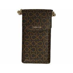Calvin Klein Torba na telefon 10 cm brown mono ZAPISZ SIĘ DO NASZEGO NEWSLETTERA, A OTRZYMASZ VOUCHER Z 15% ZNIŻKĄ