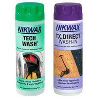 Pozostałe do prania, Zestaw pielęgnacyjny NIKWAX Twin Pack: Tech Wash 300ml / TX. Direct Wash-In 300ml