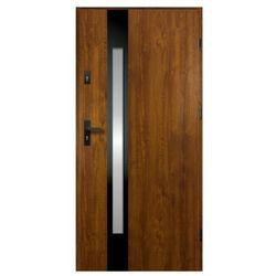 Drzwi zewnętrzne O.K. Doors Temida Black P55 80 prawe złoty dąb
