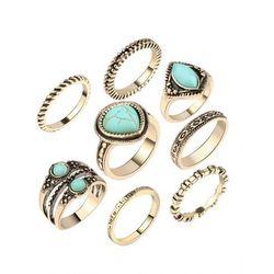 Zestaw damskich pierścionków Estilo Sabroso Es04939