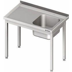 Stół ze zlewem jednokomorowym z prawej strony bez półki 1200x700x850 mm | STALGAST, 980647120