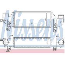 Chłodnica powietrza doładowującego - intercooler NISSENS 96693