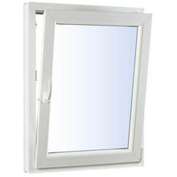 Okno PCV rozwierno-uchylne trzyszybowe 565 x 1435 mm prawe białe