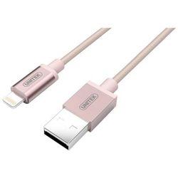 Kabel USB Unitek Mobile Lightning Nylon Rose Gold Y-C499ARG