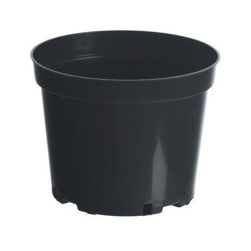 Doniczki i podstawki, Doniczka plastikowa 25 cm czarna 7,5 L