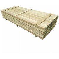 Przęsła i elementy ogrodzenia, Słupki ogrodzeniowe, 96 szt., impregnowana sosna, 6x6 cm, 2,4 m
