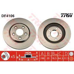 TARCZA HAM TRW DF4106 JAGUAR S-TYPE 2.5 V6 02-, 2.7D 04-, 3.0 V6 99-, XJ6 3.0 03-