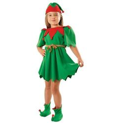 Kostium Elf Zielony sukienka - L - 134/140 cm