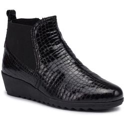 Botki CAPRICE - 9-25451-23 Black Croc Pat 065