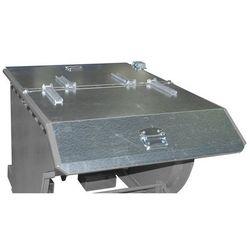 Pokrywa składana do przechylanego pojemnika, do poj. 1,0 m³, ocynkowanie. 2-stro
