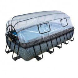 Basen Exit Stone szary prostokątny 540 x 250 cm składany dach drabinka pompa filtrująca