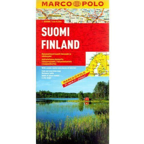 Mapy i atlasy turystyczne, Finlandia 1:850 000. Mapa samochodowa, składana. Marco Polo (opr. broszurowa)