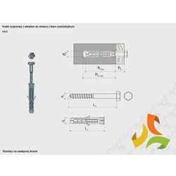 KKX 10/6x100 kołek rozporowy z łbem sześciokątnym (100szt)