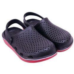 Buty męskie ogrodowe gładkie czarne 36