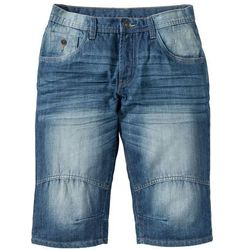 "Bermudy dżinsowe ""Loose fit"" bonprix niebieski ""medium bleached used"