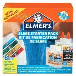 Elmer's zestaw startowy Slime, klej przezroczysty, kleje brokatowe w pisakach i Magiczny Płyn do Slime - 8 elementów (2050943). Wiek: 3+